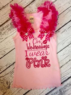 On Wednesdays I wear Pink embroidery mean girls by HissyfitsOKC on Etsy