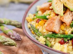 Vegan and Plant Based Recipes 🌱 - Fry's Family Food Veggie Meals, Veggie Recipes, Deep Fried Fish, Chickpea Curry, Base Foods, Couscous, Plant Based Recipes, Family Meals, Asparagus