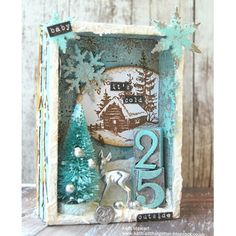 Love, love, love this Winter shadow Box - Tim Holtz/ Kath Christmas Balls, Rustic Christmas, Christmas Holidays, Christmas Wreaths, Christmas Decorations, Christmas Ornaments, Christmas Centerpieces, Christmas Jewelry, Christmas Projects