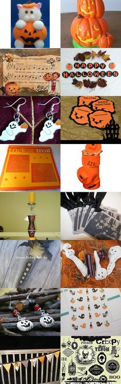 FRU Halloween Treasury Contest - Trick or Treat by Cindyanne on Etsy--Pinned with TreasuryPin.com