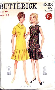 1960's pattern to adapt for dress!