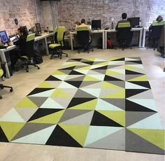 FLOR / Made You Look in multiple colors / KTBO Office / Mexico City, Mexico / Made You Look style adds geometric design to this office space.
