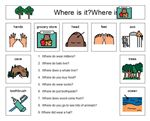 More Where Questions – This is a series of 9 where questions with a field of 9 choices of answers that create a border along the page.
