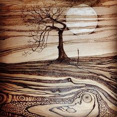 wood burning art | Tumblr