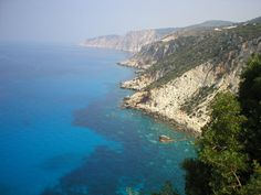 The Ionian Sea (Greek: Ιόνιο Πέλαγος) is an elongated embayment of the Mediterranean Sea, south of the Adriatic Sea. It is bounded by southern Italy including Calabria, Sicily and the Salento peninsula to the west, southern Albania to the north, and west coast of Greece. [Here: The Ionian Sea, view from Kefalonia, Greece]