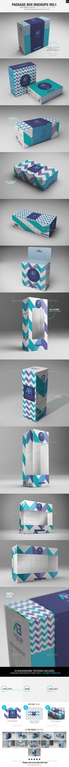 Package Box Mockups Vol1 However, the process of making a good packaging for a product is not easy. It has many requirements such as color, shape, pattern,… Consequently, it consumes much time and money. Therefore, today, we proudly present you a better way to solve your problem. Our packaging box mockups will help you visualize the real look and feel of a design on your merchandise.