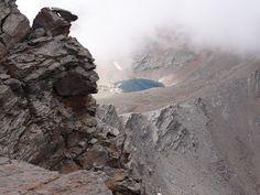 Laguna de la Caldera desde el Mulhacén.