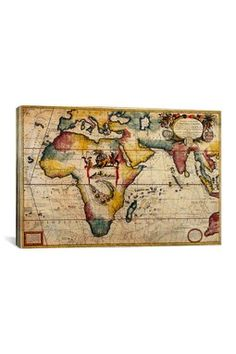 HauteLook | icanvas Art: Antique Map 2 by Ginger Canvas Print