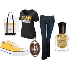 Pittsburgh Steeler's. I never post clothes but hell yeah!