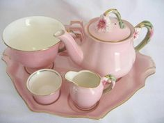 Royal Winton Breakfast Set..pink petunia 1950's.