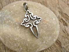 Sterling silver open fretwork cross of St James