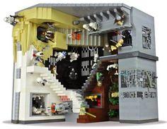 """MC Escher's """"Relativity"""" recreated in Star Wars Lego, by Paul Vermeesch (via Boing Boing)"""