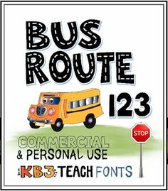 Fonts for personal and commercial use. 2-Font Set: Includes Alpha Highway and Bus Route 123. Great for games and tracing / handwriting resources.
