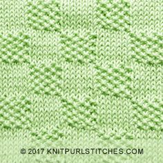 A combination of knit purl stitches. A combination of knit purl stitches. The post Moss Stitch Checks. A combination of knit purl stitches. 2019 appeared first on Knitting ideas. Loom Knitting Stitches, Baby Boy Knitting Patterns, Dishcloth Knitting Patterns, Knitting Charts, Knitting Ideas, Knitting Squares, Herringbone Stitch, Moss Stitch, How To Purl Knit