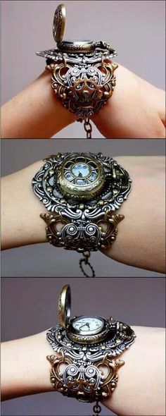 "A lady's ""pocket watch"", but it's more like a flip-top wrist-watch. No matter what it's called, I would totally wear it. :D"