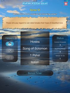 """Those who pay regard to vain idols forsake their hope of steadfast love."" is a verse from which Bible book? Read answer on BibleGateway: http://www.biblegateway.com/passage/?search=jonah+2%3A8&version=ESV (Screenshot from *FREE* app: https://itunes.apple.com/app/id775306923)"