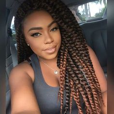 Brown and Caramel Crochet Twists