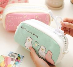 Keep your writing tools at hand with this super cute Large Alpaca Pencil Case.
