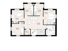Hudson - Storslaget hus i serien Ocean Living från Myresjöhus House Floor Plans, Sims 4, Ocean, Houses, How To Plan, Future, Architecture, Live, Heart