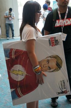 Sheldon groupie #SDCC #BigBangTheory #TV