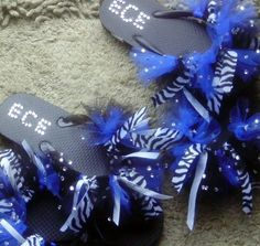 cheer flip flops, custom made to match your team! Cheer, Dance, Gymnastics we can match anything