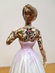 Tattooed Porcelain Figures by Jessica Harrison.