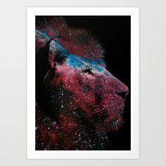 Lion  Art Print by Lucas de Souza - $13.52