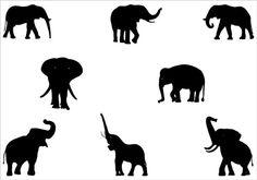 Elephant silhouette Vector Graphics | Silhouette Clip ArtSilhouette Clip Art