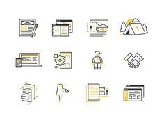 Web & Brand Process Icons by ryan weaver for Sputnik Creative