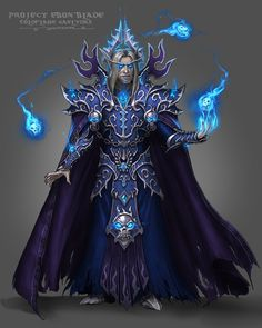 Gold Flame Kael'thas the Ebon Blade by Zach Fischer Warcraft Art, World Of Warcraft, Fantasy Armor, Dark Fantasy, Fantasy Character Design, Character Art, Jaina Proudmoore, Death Knight, Undead Knight