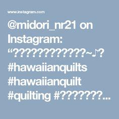 "@midori_nr21 on Instagram: ""楽しいキルティングタイム~♪♬ #hawaiianquilts #hawaiianquilt #quilting #ハワイアンキルト #하와이안퀼트"""