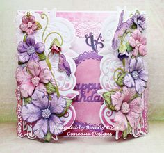 Happy Birthday by guneauxdesigns - Cards and Paper Crafts at Splitcoaststampers Flip Cards, Fancy Fold Cards, Baby Cards, Heartfelt Creations Cards, Flower Tutorial, Creative Cards, Flower Cards, Homemade Cards, Making Ideas