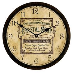 Vintage Soap Ad Wall Clock. Comes in lots of sizes! #vintage #clocks ...