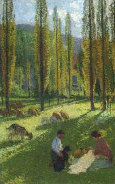 The Poplars - The Couture - Henri Martin