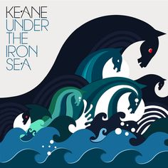 THIS is what I want my design aesthetic to be. Down to the colors...wow.    Under the Iron Sea (2006)  Keane  Design by: Sanna Annukka  [Island Records]