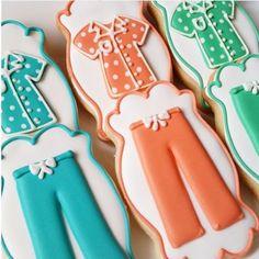 Cookies para festa do pijama, muito fofos! Por @bluesugarcookieco. #kikidsparty