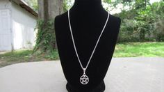 Pentacle Necklace,  Wicca Jewelry, Made to order, Pagan Wiccan Wear, Choose chain length, made to order necklace