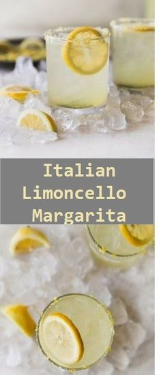 This sweet, sour, refreshing Limoncello Margarita is a Mexican classic with an Italian makeover! Made with no lemonade concentrate, just simple ingredients. Limoncello Cocktails, Fun Drinks, Yummy Drinks, Alcoholic Drinks, Beverages, Margarita Recipes, Cocktail Recipes, Tequila, Drink Recipes