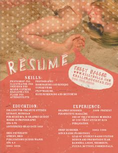 1000+ images about Artist resumes on Pinterest | Creative resume ...