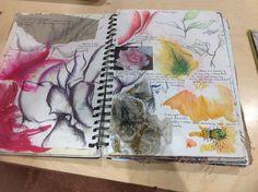 Sketchbook pages, sketchbook ideas, a level sketchbook, textiles sketchbook, A Level Sketchbook, Textiles Sketchbook, Gcse Art Sketchbook, Sketchbook Ideas, Sketchbooks, Sketchbook Inspiration, Mini Albums, Art Nouveau, Fantasy Magic