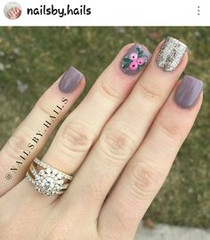 Cute! Romantic Nails, Manicure E Pedicure, Fabulous Nails, Flower Nails, Creative Nails, Toe Nails, Nails Inspiration, Beauty Nails, Pretty Nails