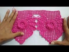 Passo a Passo - Barradinho de Crochê com Flores - YouTube