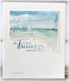 Report from a desk: CAS Watercolour Card Challenge - June
