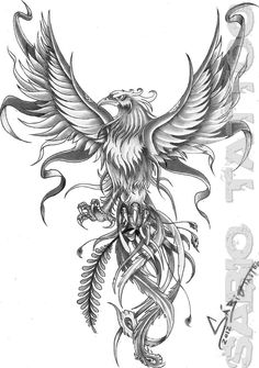 Phoenix Tattoos Phoenix Tattoo Flash Nightsqueen On Deviantart regarding sizing 900 X 1143 Bird Phoenix Tattoos - No appear sort of bird tattoo designs Future Tattoos, Love Tattoos, Body Art Tattoos, New Tattoos, Tatouage Delta, Aquarell Phönix Tattoo, Fenix Tattoos, Phoenix Art, Phoenix Rising