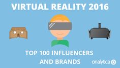 An exhaustive list of the top 100 virtual reality influencers and brands driving the most engagement in 2016, including quotes from the experts.