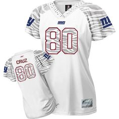 NFL Jersey's Women's New York Giants Victor Cruz Nike White Platinum Jersey