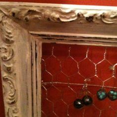 Vintage Frame = Jewelry Organizer