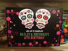 Day of the Dead party invite