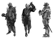ArtStation - Knight sketch, YOUNG IL CHOI