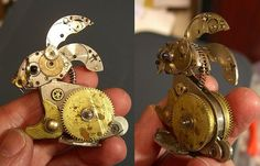 Sue Beatrice, of All Natural Arts, makes some amazing-looking sculptures from old watch parts.